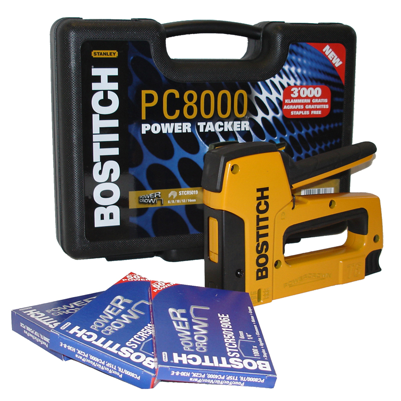 BOSTITCH agrafeuse manuelle PC8000-T6 KIT 1-1 avec coffret de transport et agrafes